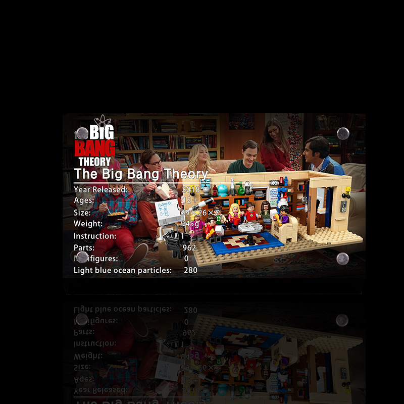 THE Display Stand For LEGO Ideas The Big Bang Theory 21302 Custom Acrylic Licence Brand
