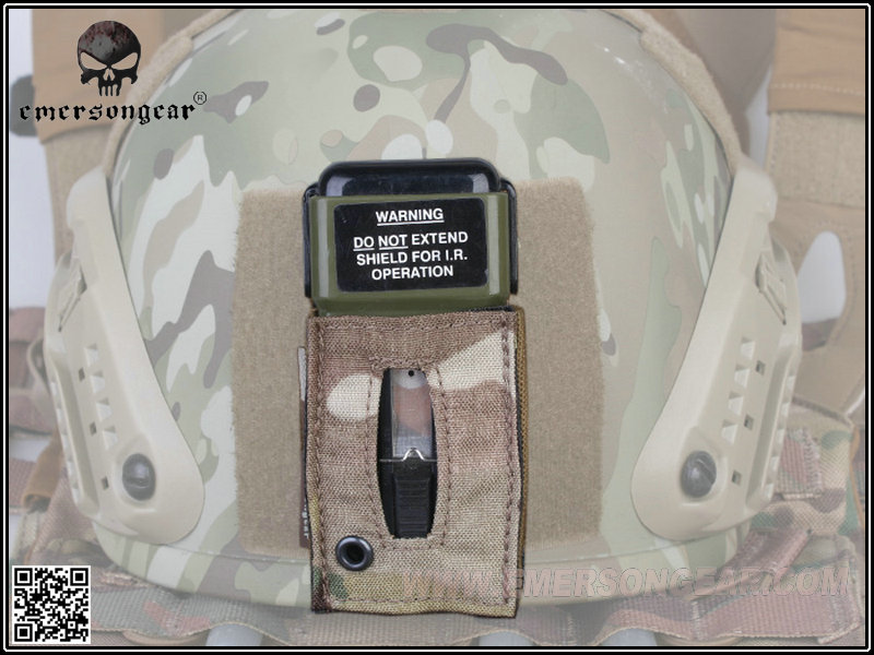 Image 2 - emersongear Emerson MS2000 Tactical Strobe Light Protective Pouch Distress Marker Carrier Hook & Loop For Mounting Helmets-in Pouches from Sports & Entertainment