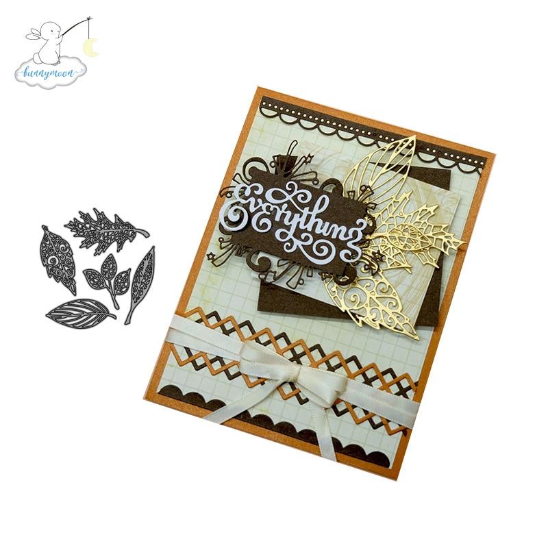 Листья металлические штампы трафареты для скрапбукинга/фотоальбом штампы декоративное тиснение DIY карты| |   | АлиЭкспресс