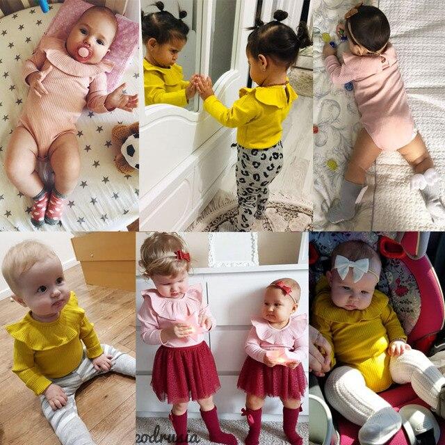 Śpioszki dziewczęce 0-2Y wiosenne ubranka dla noworodków dla dziewczynek z długim rękawem dla dzieci chłopcy kombinezon dla niemowląt chłopcy stroje ubrania letnie