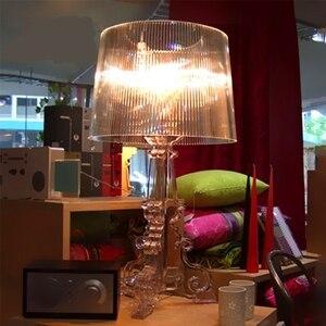 Image 5 - Moderne Ghost Shadow Helder Transparant Acryl Tafel Lampen Slaapkamer Bed Studie Acryl Bureau Lampen Eenvoudige Licht