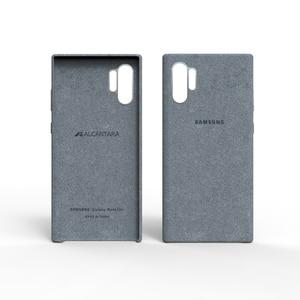 Image 3 - סמסונג הערה 10 בתוספת אלקנטרה מקרה רשמי מקורי אמיתי זמש עור מצויד מגן מקרה סמסונג גלקסי Note10 פרו 10 +