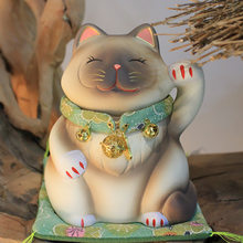 Japanese 6 Inch Maneki Neko Statue Lucky Cat Collectible Figurine Feng Shui Successful Career Luck and Fortune Charm Good Health