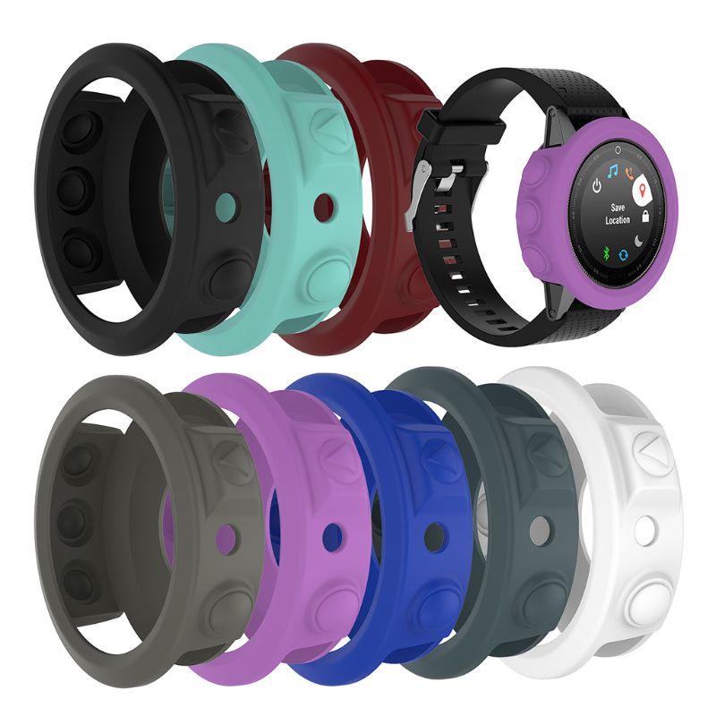 Silicone capa protetora para garmin fenix 5 pulseira de pulso pulseira escudo relógio