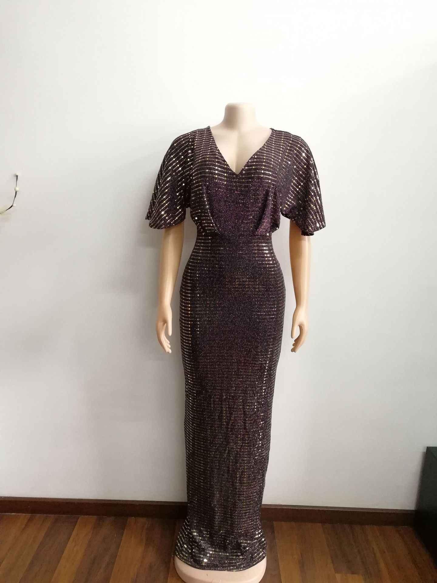 2019 nuovo arrivo elegent stile di modo africano di bellezza delle donne più il formato vestito lungo M-XL