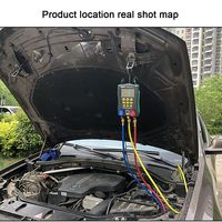 DY517 Pressure Gauge Auto Air Conditioning Repair Refrigerant Meter Digital Vacuum Pressure Manifold Meter Tester Accessories