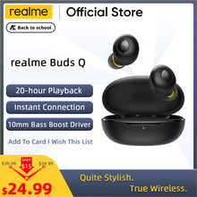 realme Buds Q TWS Earphones Ture Wireless Bluetooth 5.0 Open-up Auto Connection