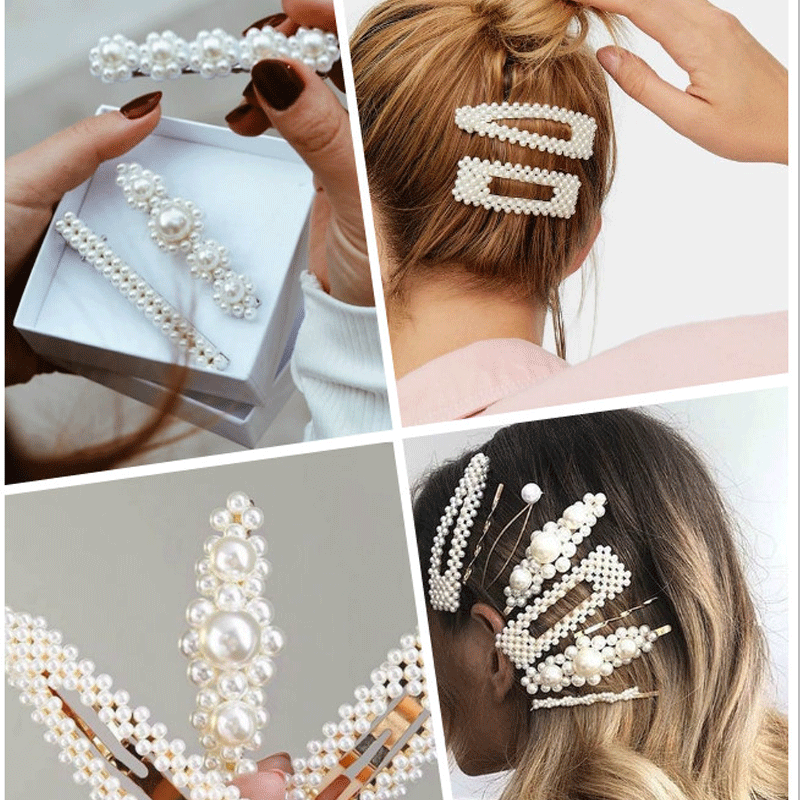 Hair Accessories Fashion Women Pearl Hair Clip Girls Hair Clip Styling Tools Hair Accessories Women Hair Clip Decorations