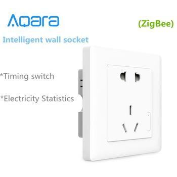 Aqara Smart wall Socket,ZigBee wifi Remotel Control Wireless Switch Work for Xiaomi Smart home kits APP