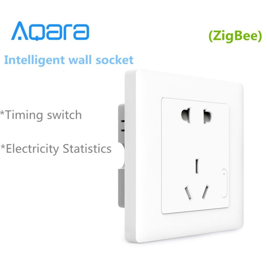 Aqara Smart wall SocketZigBee wifi Remotel Control Wireless Switch Work for Xiaomi Smart home kits APP