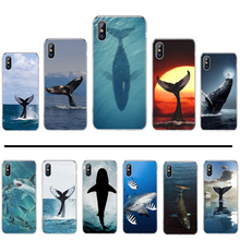 shark Animal Cartoon cool Luxurious Soft black Luxury Phone Case For iphone 4 4s 5 5s 5c se 6 6s 7 8 plus x xs xr 11 pro max(China)