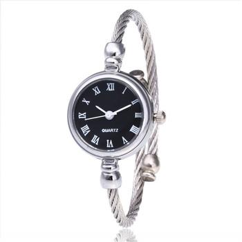 1PC Pop Luxury Vintage Fashion srebrne zegarki damskie Casual zegarek kwarcowy pasek ze stali nierdzewnej zegarek analogowy zegarki tanie i dobre opinie QUARTZ NONE CN (pochodzenie) STOP bez wodoodporności Moda casual ROUND Brak Szkło DHT575 20cm bez opakowania STAINLESS STEEL