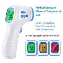 Лоб бесконтактный инфракрасный корпус термометр пистолет ABS для взрослых детей ЖК дисплей цифровой лазер температура инструмент бесплатно корабль