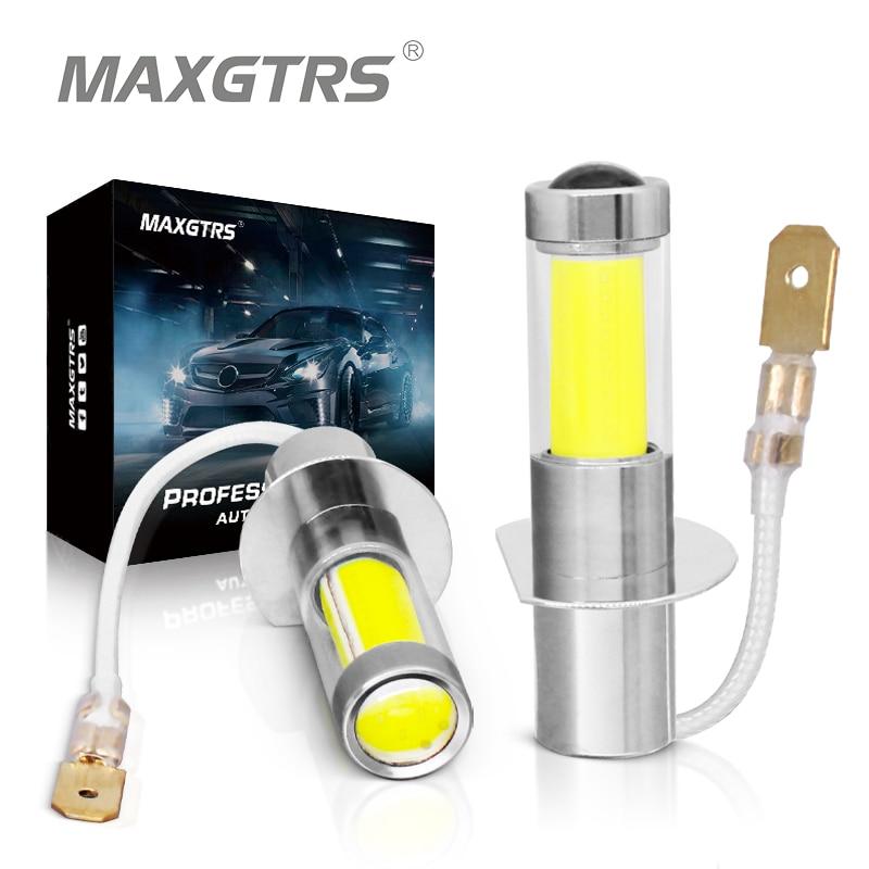 2 шт., Автомобильные светодиодные лампы H1 H3 880 881 12 В 24 в 6000 К