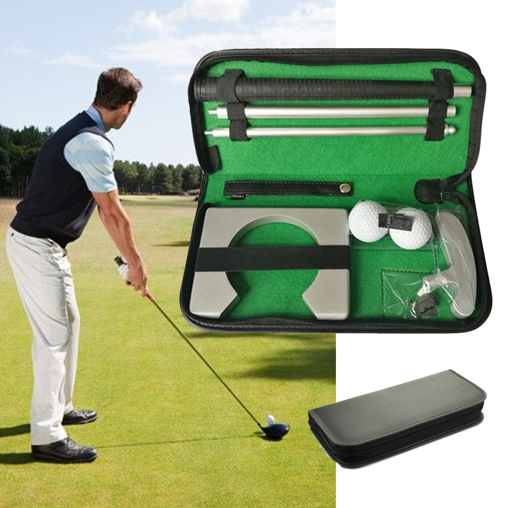 Portable Golf Putter Putting Gift Set Kit For Indoor Outdoor Training Practice With Putter 2pcs Balls Putting Cup Golf Tool