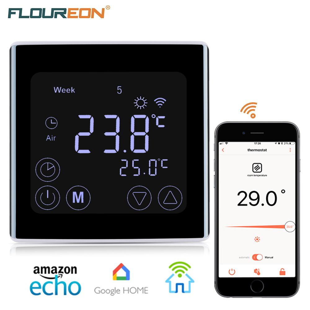 FLOUREON YC17.GH3 16A Touch Screen Programmable WiFi Thermostat Remote Control