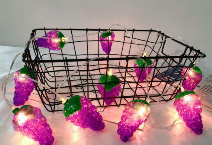LED Decorationl Fruit String Light Home Holiday Coloured Light Battery Box Lamp String 1.5m 10led