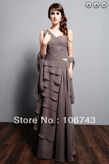 Free Shipping 2016 Brides Maid Dresses Maxi Dresses Vestidos Formales Long One Shoulder Bridal Gown Mother Of The Bride Dresses