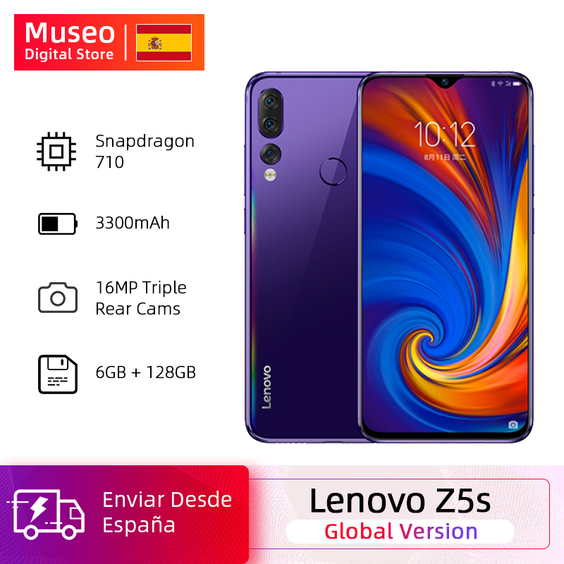 Global Version Lenovo Z5s Snapdragon 710 Octa Core 6GB 128GB Mobile Phone 6.3inch AI Triple Rear Camera Android P