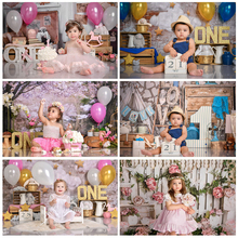 Birthday Photography Backdrops 1st Baby Shower Cake Smash Photo Background Children Newborn Portrait Party Decorations Props