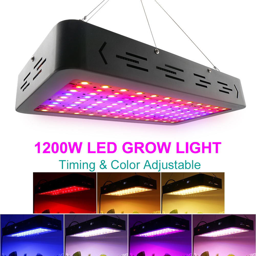 2019Newest 1200W LED Grow Light Full Spectrum Dual Chip Timing Color Control Plant Lamp For Indoor Vegs Flowers Tent Greenhouse