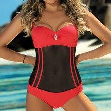 One-Piece Swimsuit Beach-Wear Push-Up Body Female Sexy Women's Net Red Closed