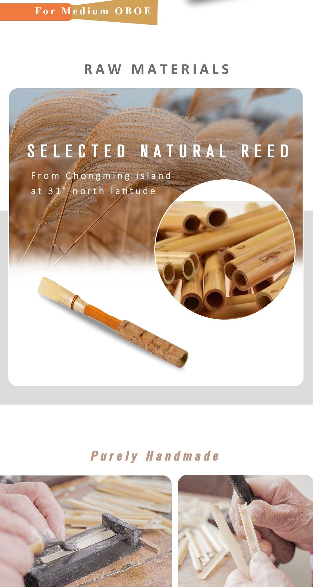 5 pçs 1 pacote de bambu oboé