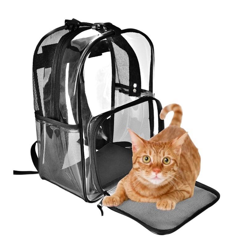 Portable Transparent Pet Dog Kitty Puppy Backpack Carrier Outdoor Travel Bag Cats Kitten Carriers Pet Supplies