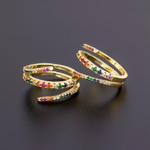 Moda wielowarstwowe miedź cyrkon regulowane pierścienie wysokiej jakości luksusowe hurtownie obrączki ślubne biżuteria zaręczynowa kobiet