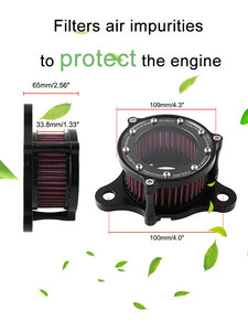 Image 2 - Motorcycle Air Filter Air Cleaner Kit CNC Intake System For Harley Sportster XL 883 XL1200 1992 1993 2016