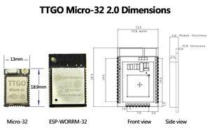 Image 4 - Ttgo Micro 32 V2.0 Wifi Draadloze Bluetooth Module ESP32 PICO D4 Ipex ESP 32 Voor 5 Stuk (10 Stuk) = 1Set