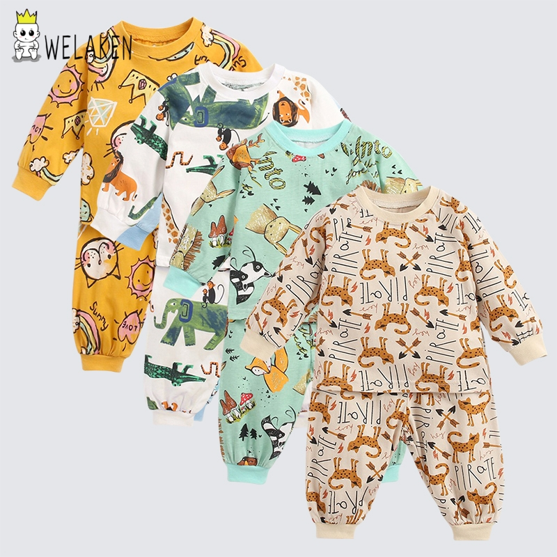 WeLaken New Winter Cartoon Cotton Baby Sweatshirt+pants Girls Clothing Sets Long Sleeve Toddler Girl Clothes Kids Clothes Fall