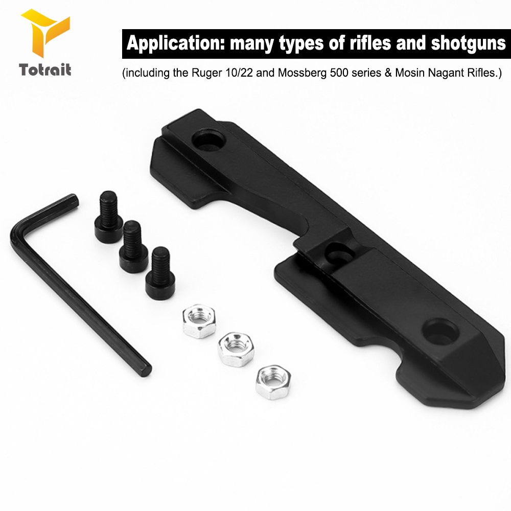 TOtrait Steel Dovetail Side Plate Fits Stamped Milled Receiver for AK/Saiga Airsoft Wrench Hunting Rifle AK47 Side Scope Mount|Scope Mounts & Accessories| |  - title=