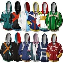 Boku no My Hero Academia بلوزات الرجال هوديس ثلاثية الأبعاد الطباعة هوديي الهيب هوب ملابس رياضية مضحكة غير رسمية اليابانية تأثيري حلي