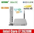 GOTHINK mini pc met WiFi Intel Core i7 2620M 8G 256G Dual-core vier-schroefdraad 2.7Ghz ondersteuning XP WIN7/8/10 LINUX pocket PC