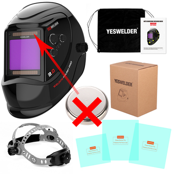 YESWELDER Large Screen Welding Mask True Color Welding Helmet Solar Auto Darkening Weld Hood without Battery 7