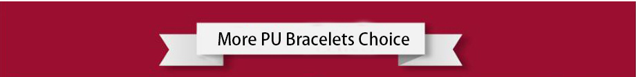 more pu bracelets