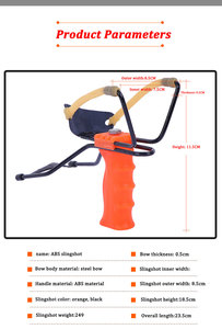 Image 2 - Proca profesjonalna z gumką i podpórka pod nadgarstek 2 kolory proca do polowania uchwyt ABS zewnętrzna strzelanka