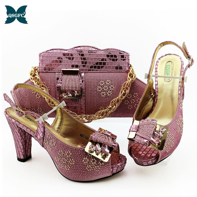 2020 New ins fashion Shoes and Bag Sets Italian design Matching Bags with High Quality Women for Party and wedding in high heel