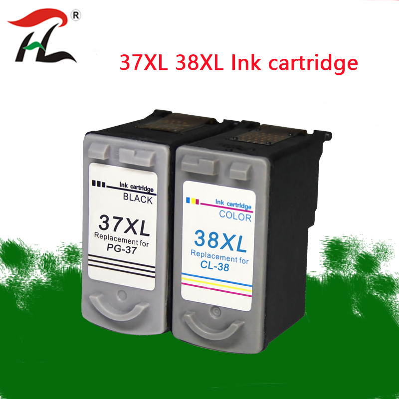 PG37 CL38 Ink Cartridge for <font><b>Canon</b></font> <font><b>PG</b></font>-<font><b>37</b></font> CL-38 PG37XL CL38XL PIXMA MP140 MP190 M210 MP220 MP420 IP1800 IP2600 MX300 MX310 printer image