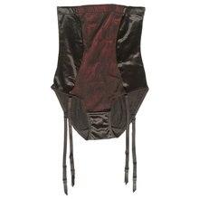 سراويل داخلية عالية الخصر للتحكم في البطن مزودة بحزام رباط للجوارب حريمي بحزام قابل للإزالة بمشابك معدنية BS050