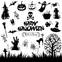 AZSG Happy Halloween Trick Or Treat Clear Stamps For DIY Scrapbooking Decorative Card making Craft Fun Decoration Supplies