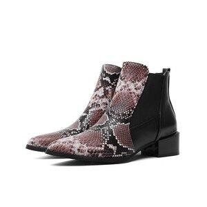 Image 5 - MORAZORA 2020 ใหม่มาถึงผู้หญิงข้อเท้างูชี้ Toe รองเท้าส้นสูงรองเท้าฤดูใบไม้ร่วงฤดูหนาวรองเท้าเชลซีหญิง
