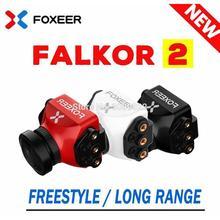 Foxeer falkor mini v2 1200tvl câmera de tamanho completo 16:9/4:3 pal/ntsc switchable gwdr com suporte fpv câmera apoio fixador asa