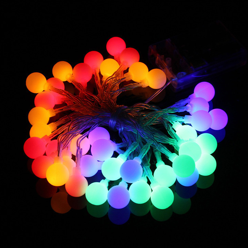 1.5M 3M 6M 10M Christmas Lights Indoor Fairy Garland LED Ball String Lights Curtain Decoration Halloween Holiday Light Outdoor