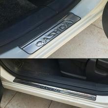 цена на Car Accessories For Nissan Qashqai Door Sill J10 Scuff Plate Stainless Steel Door Sills Guard Car Styling Sticker 2007-2013 4pcs