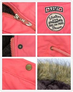 Image 5 - Женское пальто из искусственного меха, с длинным рукавом и капюшоном, на молнии
