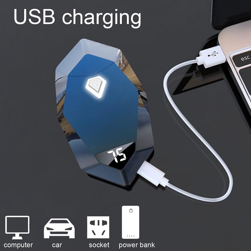 Hedd677a87c084deaad25531d6191dc743 - ไฟแช๊กไฟฟ้า พลาสม่า ไฟแช็กเลเซอร์ ไฟแช็คชาร์จแบต USB Electronic Plasma
