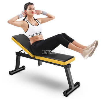 Foldable Dumbbell Bench Multifunctional Sit Up Abdominal Weightlifting Training Arm Muscle Fitness Tool 27cm Seat Width