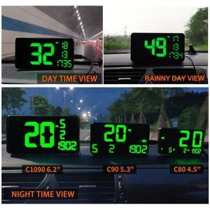 Image 5 - GPS Speedometer C60จอแสดงผลรถยนต์HUD KM/H MPHจีนราคาถูกC80 Auto Electronics SpeedจอแสดงผลC90 C1090ขนาดใหญ่หน้าจอA100 Hud